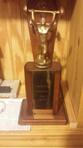 Close up of the trophy
