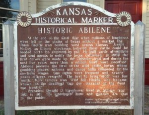 This marker is located in Old Abilene Town, right beside the old stockyards.