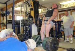 Eric Todd performing a Hand and Thigh Lift at the 2014 Heavy Lift Championships.