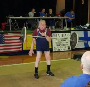 Art Montini in Glasgow, Scotland competing in the 2015 IAWA World Championships.