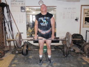 The Middle Finger Deadlift has always been part of the Goerner Deadlift Dozen at Clark's Gym.  You can see the pain in my face performing this lift at the 2009 Goerner's.