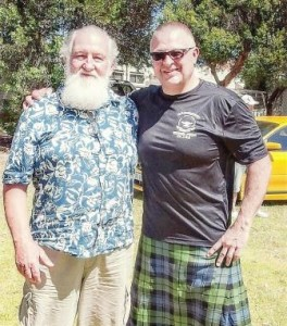 John Patterson (left) and myself at the 2015 IAWA Gold Cup in Perth, Australia.