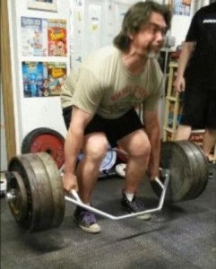 James Fuller pulling a 600 pound Trap Bar Deadlift at Frank's Record Day.