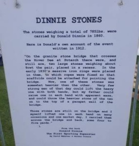 The history of the Dinnie Stones was on display at the games.