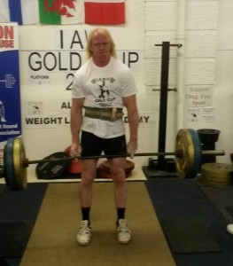 Timo Lauttamus, Finland, pulling the TOP ALL TIME Middle Fingers Deadlift at the 2014 IAWA Gold Cup.