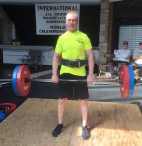 Tony Patterson performing a Ciavattone Grip Deadlift at the 2016 IAWA World Championships.