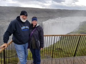 Michelle and I by Dettifoss.  It's the largest waterfall in Iceland and in all of Europe!