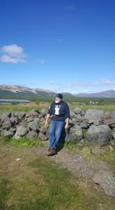 Thom Van Vleck by Pastor Snorri's goat pens in Iceland