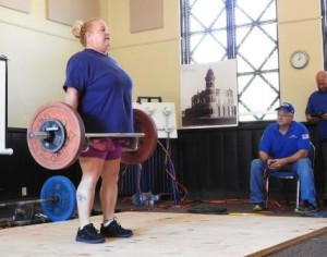 Susan Sees performs a Trap Bar Deadlift at the 2016 IAWA Gold Cup in Abilene, KS.