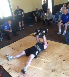 Eric Todd performed a World Record Lying Lateral Raise at the 2016 IAWA Gold Cup.