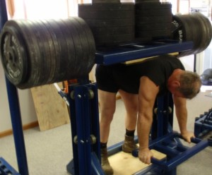 Steve Schmidt holds the All-Time record in the USAWA in the Back Lift, with a lift of 3050 pounds.